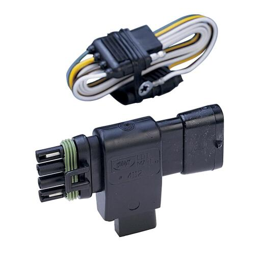 Hopkins 4-Flat Plug-In Simple Vehicle Wiring Kit (Chevy/Cadillac/GMC Compatbile)
