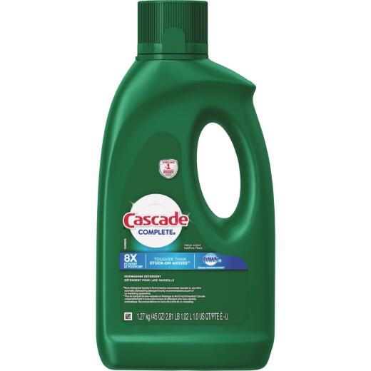Cascade Complete 45 Oz. Liquid Gel Fresh Dishwasher Detergent