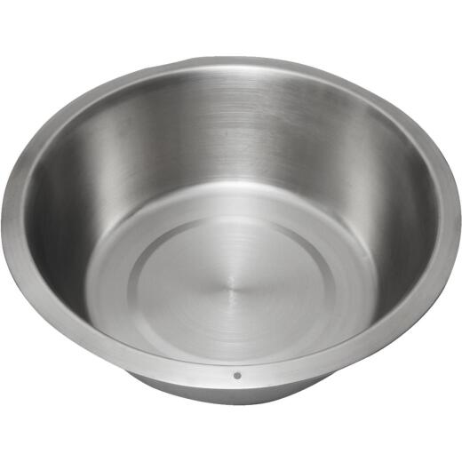 Lindy's 12 Qt. Stainless Steel Flat Bottom Dishpan