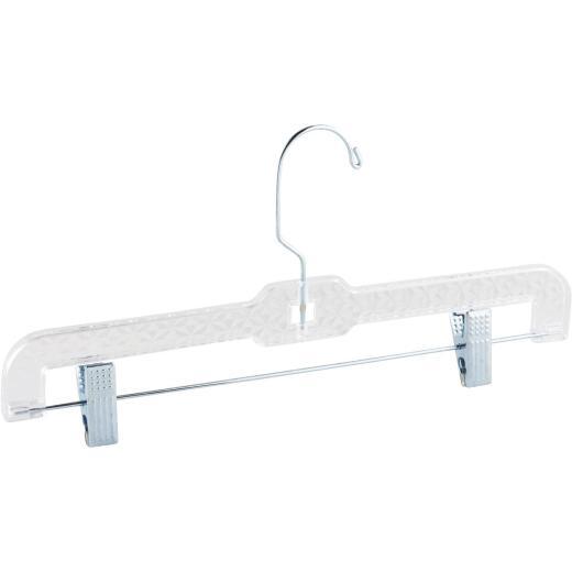 Homz Smart Solutions Crystal Cut Clear Plastic Pant/Skirt Hanger (2-Pack)