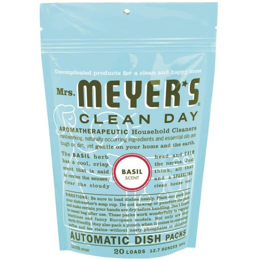 Mrs. Meyer's Basil Dishwasher Detergent Tabs, 20 Ct.