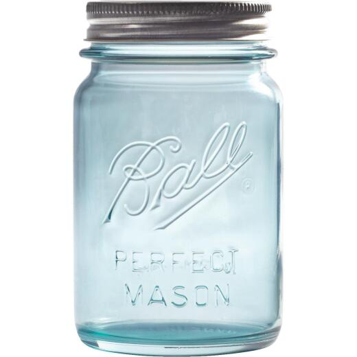 Ball Collector's Edition Pint Regular Mouth Aqua Vintage Canning Jar (4-Count)