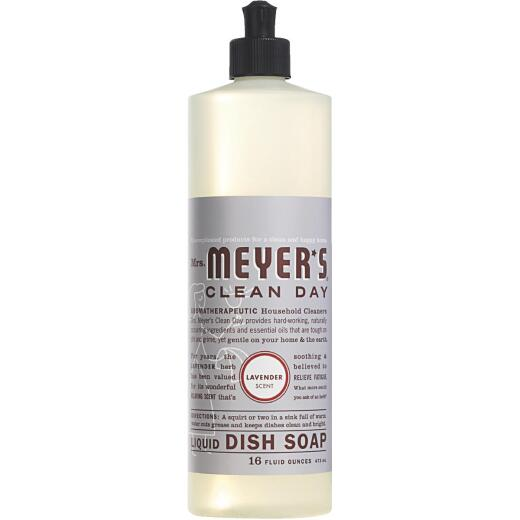 Mrs. Meyer's Clean Day 16 Oz. Lavender Scent Liquid Dish Soap