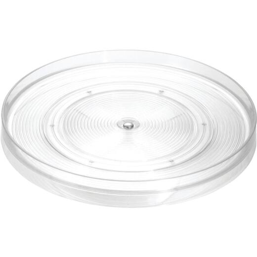 iDesign Linus 11 In. Dia. x 1.75 In. H. Clear Turntable