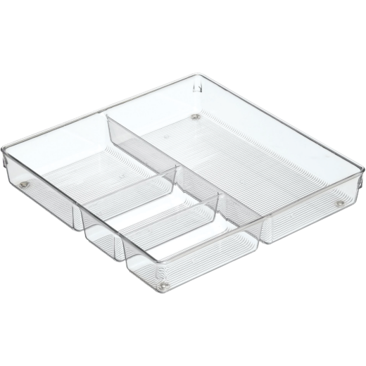 iDesign Linus 12 In. W. x 12 In. L. x 2 In. H. Clear Square Drawer Organizer Tray