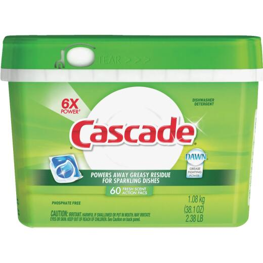 Cascade Action Pacs Fresh Dishwasher Detergent Tabs, 60 Ct.