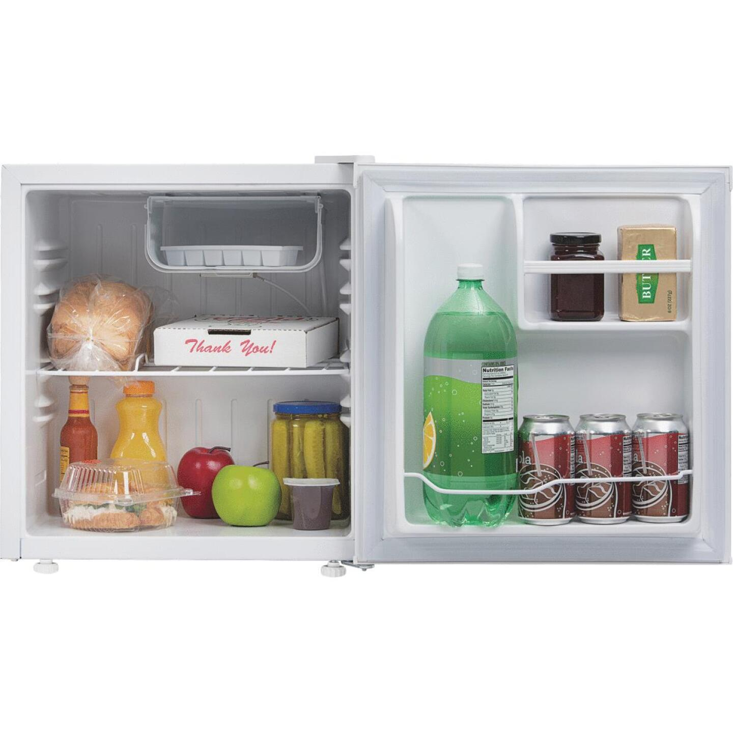 Perfect Aire 1.6 Cu Ft Single Door White Refrigerator Image 3