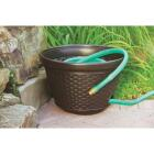 Suncast 100 Ft. Brown Resin Wicker Hose Pot Image 2
