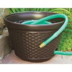 Suncast 100 Ft. Brown Resin Wicker Hose Pot Image 1