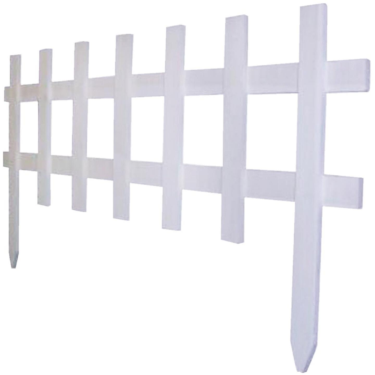 Greenes Fence 18 In. H x 3 Ft. L Wood Decorative Border Fence Image 1