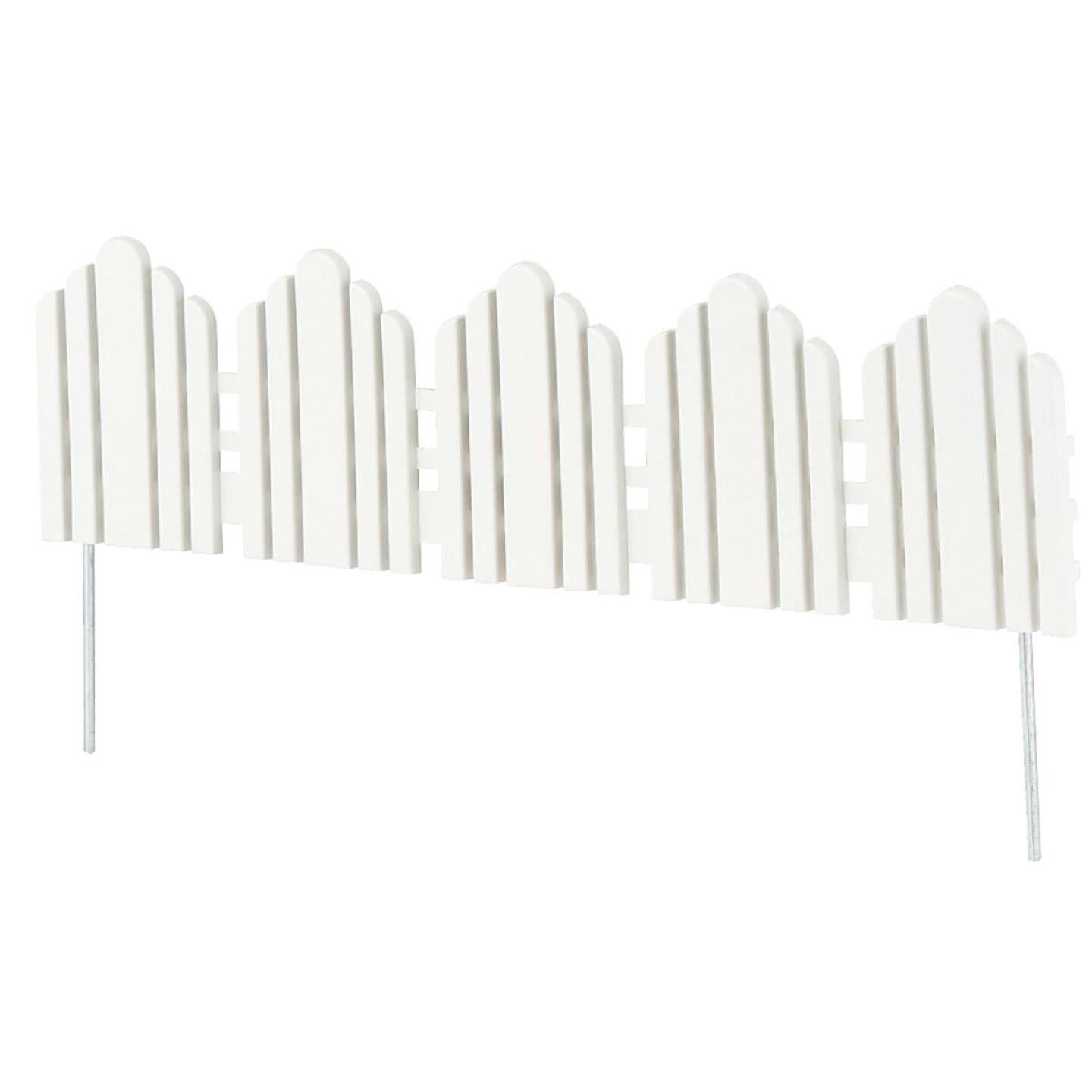 Adirondack 6 In. H x 22.5 In. L Poly Decorative Border Fence Image 1