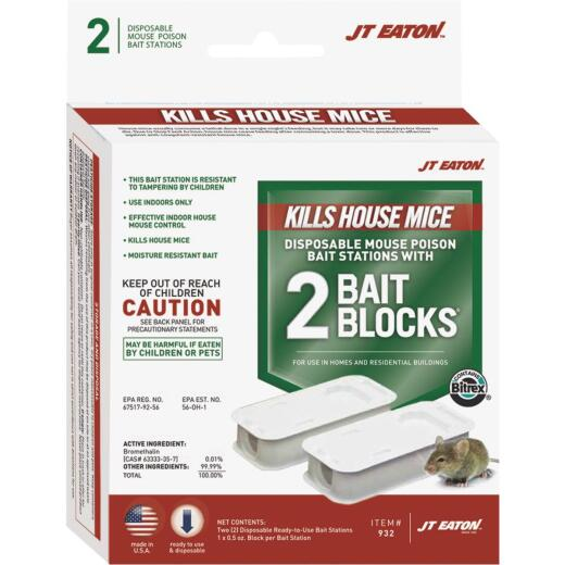JT Eaton Disposable Mouse Bait Station (2-Pack)