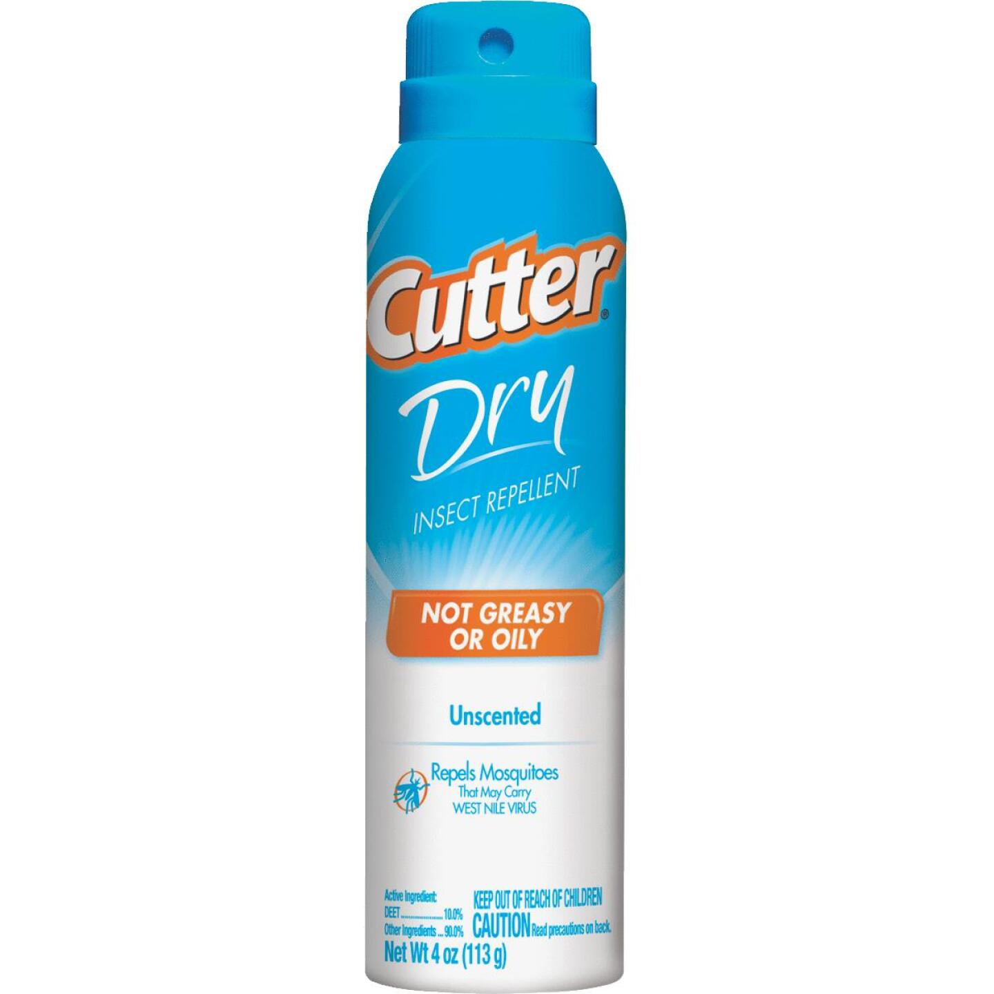 Cutter Dry 4 Oz. Insect Repellent Aerosol Spray Image 1