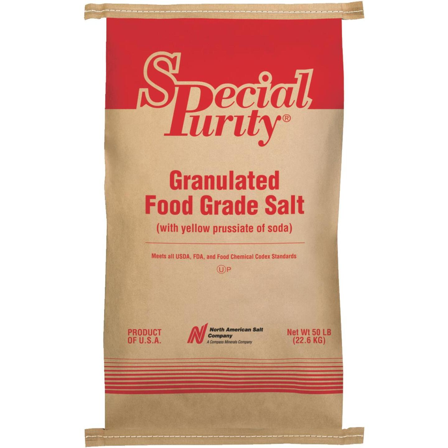Special Purity 50 Lb. 99.9% Purity Food Grade Salt Image 1