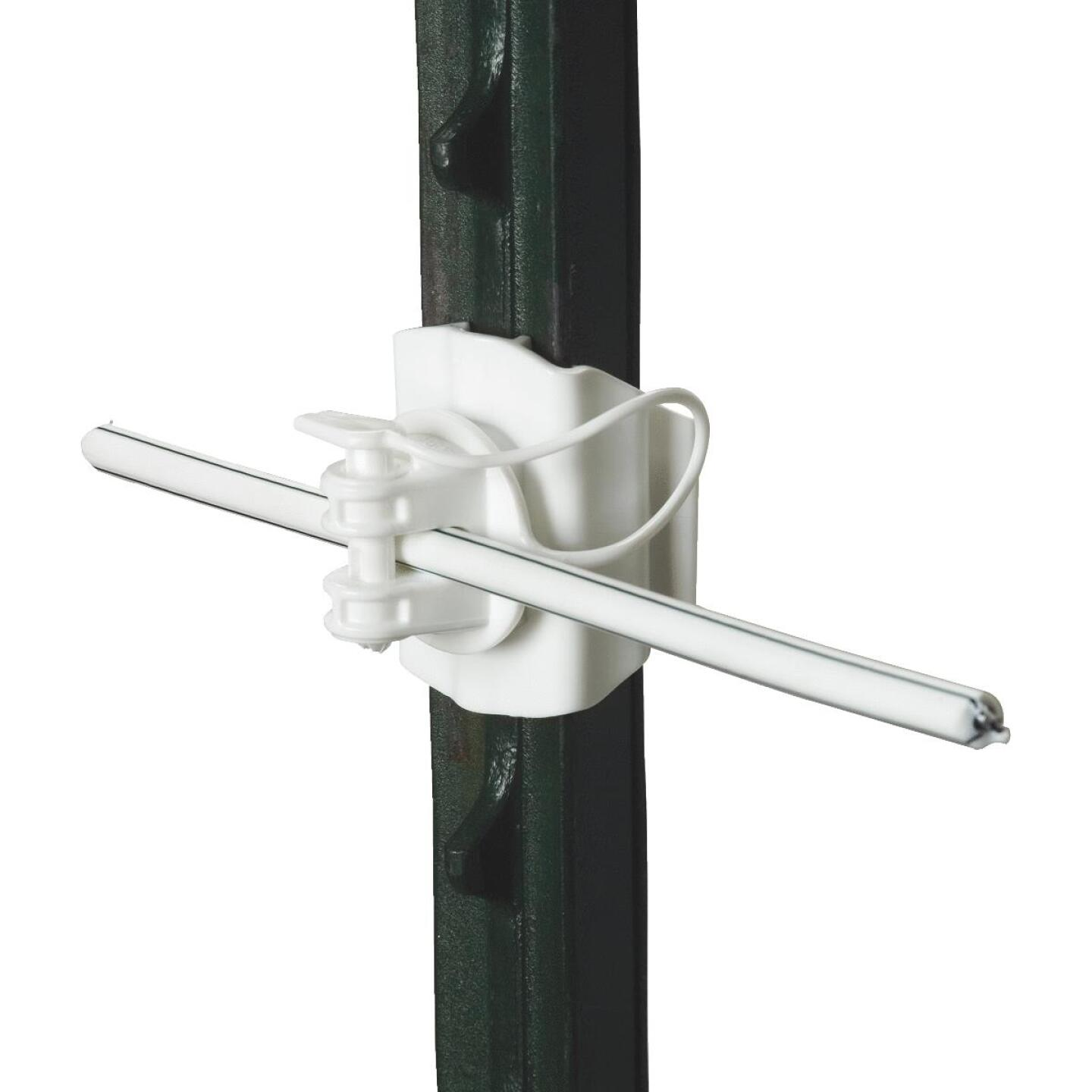 Gallagher Clip-On White UV-Resistant Plastic Electric Fence Insulator (20-Pack) Image 1