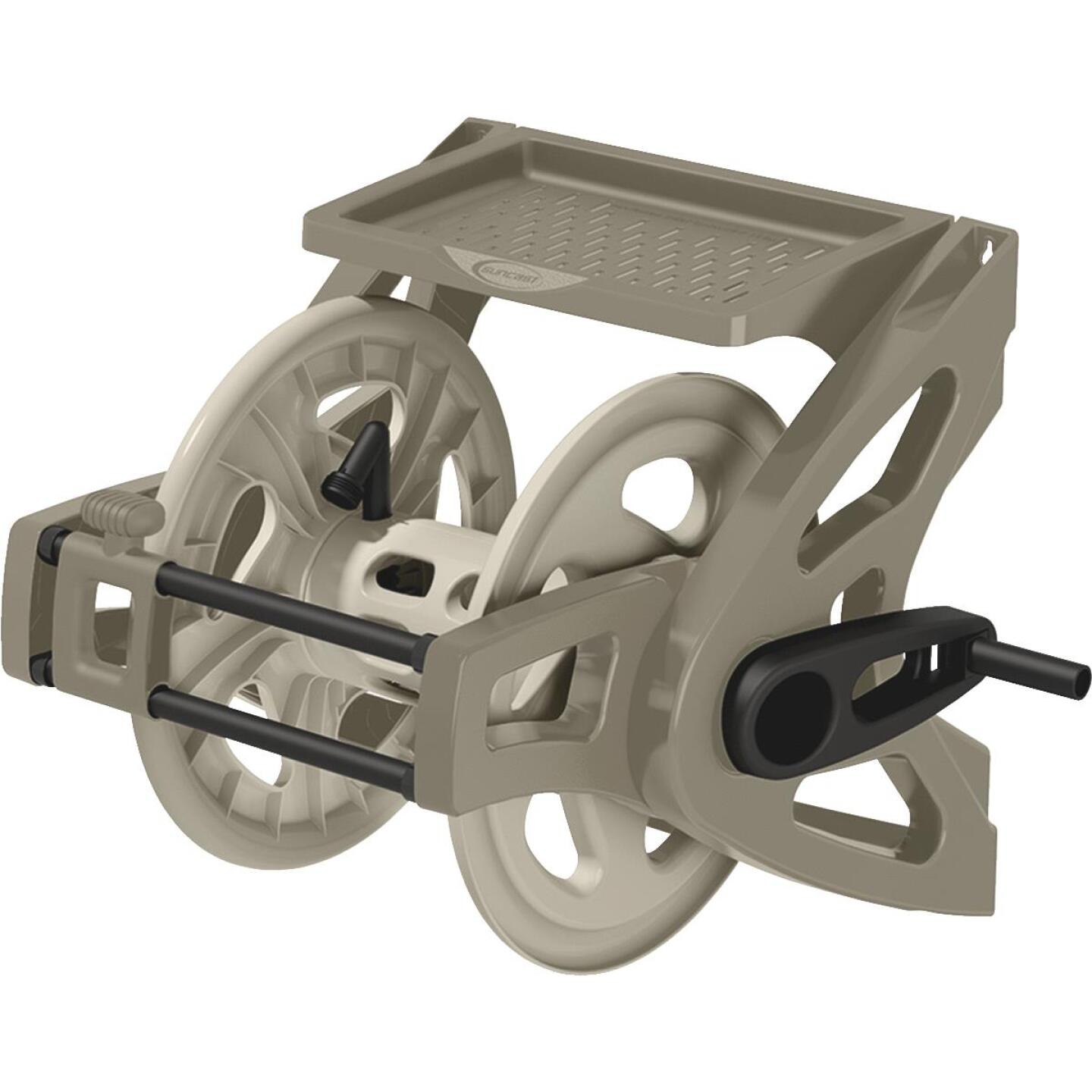 Suncast Slide Trak Hosemobile 175 Ft. x 5/8 In. Taupe Resin Hose Reel Image 1