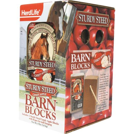 HerdLife Sturdy Steed 4 Lb. Candy Apple Horse Block (2-Pack)