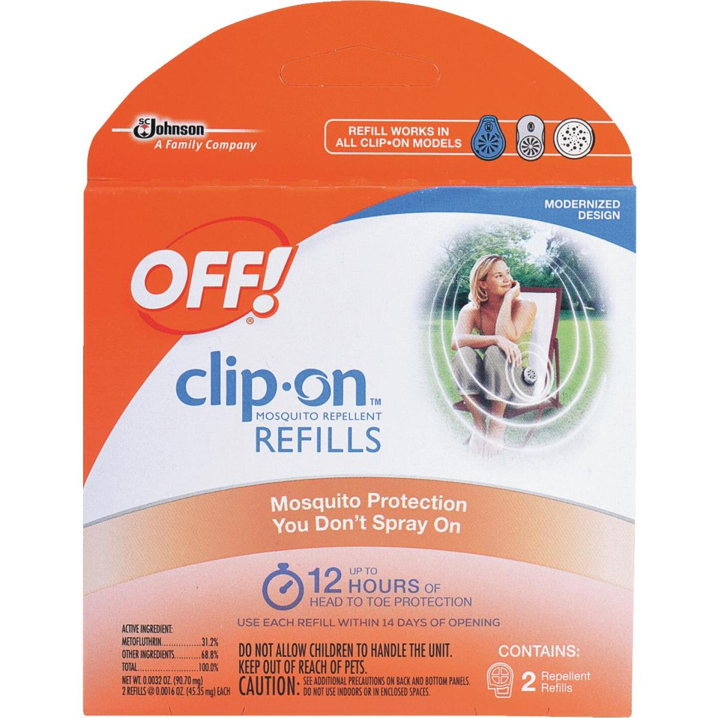 OFF! 12 Hr. Clip-On Mosquito Repellent Refill (2-Pack) Image 1