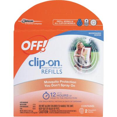 OFF! 12 Hr. Clip-On Mosquito Repellent Refill (2-Pack)