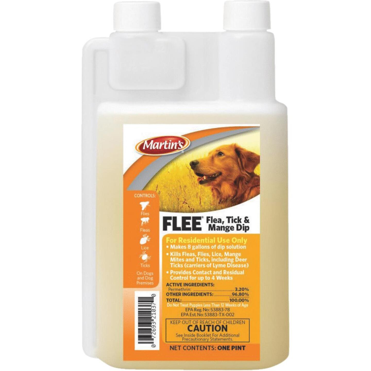 Martin's Flee 28-Day 1 Pt. Concentrate Mange, Flea & Tick Treatment Dip For Dogs Image 1