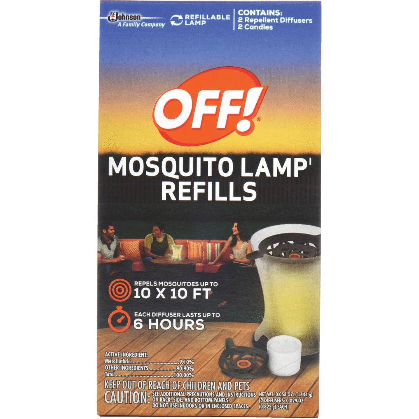 OFF! 6 Hr. Lamp Mosquito Repellent Refill (2-Pack) Image 1