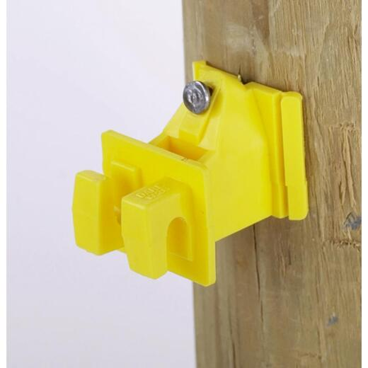 Dare Snug Snap-In Yellow Polyethylene Electric Fence Insulator (25-Pack)