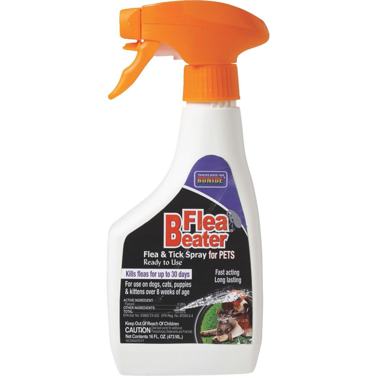 Bonide Flea Beater 30-Day 16 Oz. Flea & Tick Control Spray For Cats & Dogs Image 3
