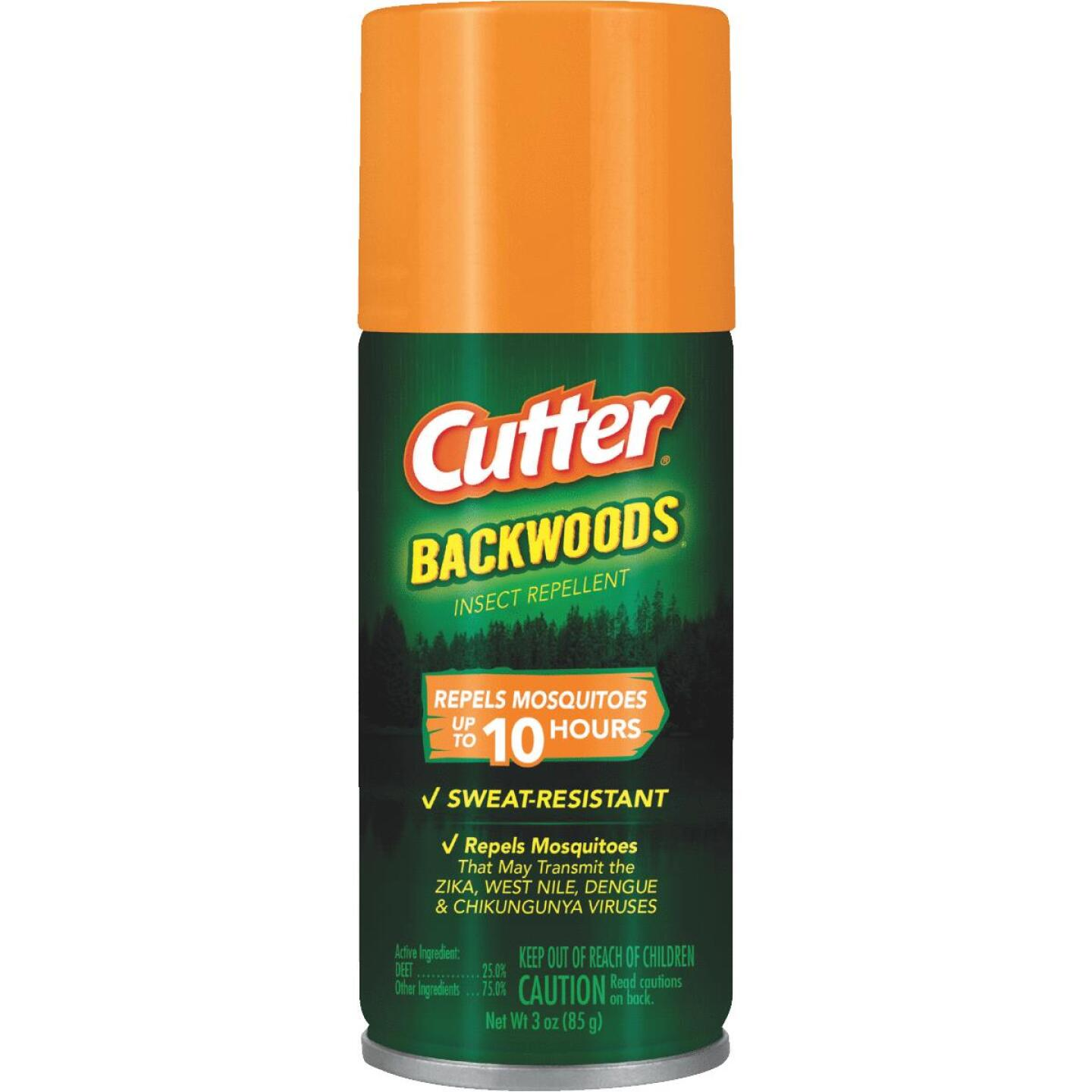 Cutter Backwoods 3 Oz. Travel Size Insect Repellent Aerosol Spray Image 1