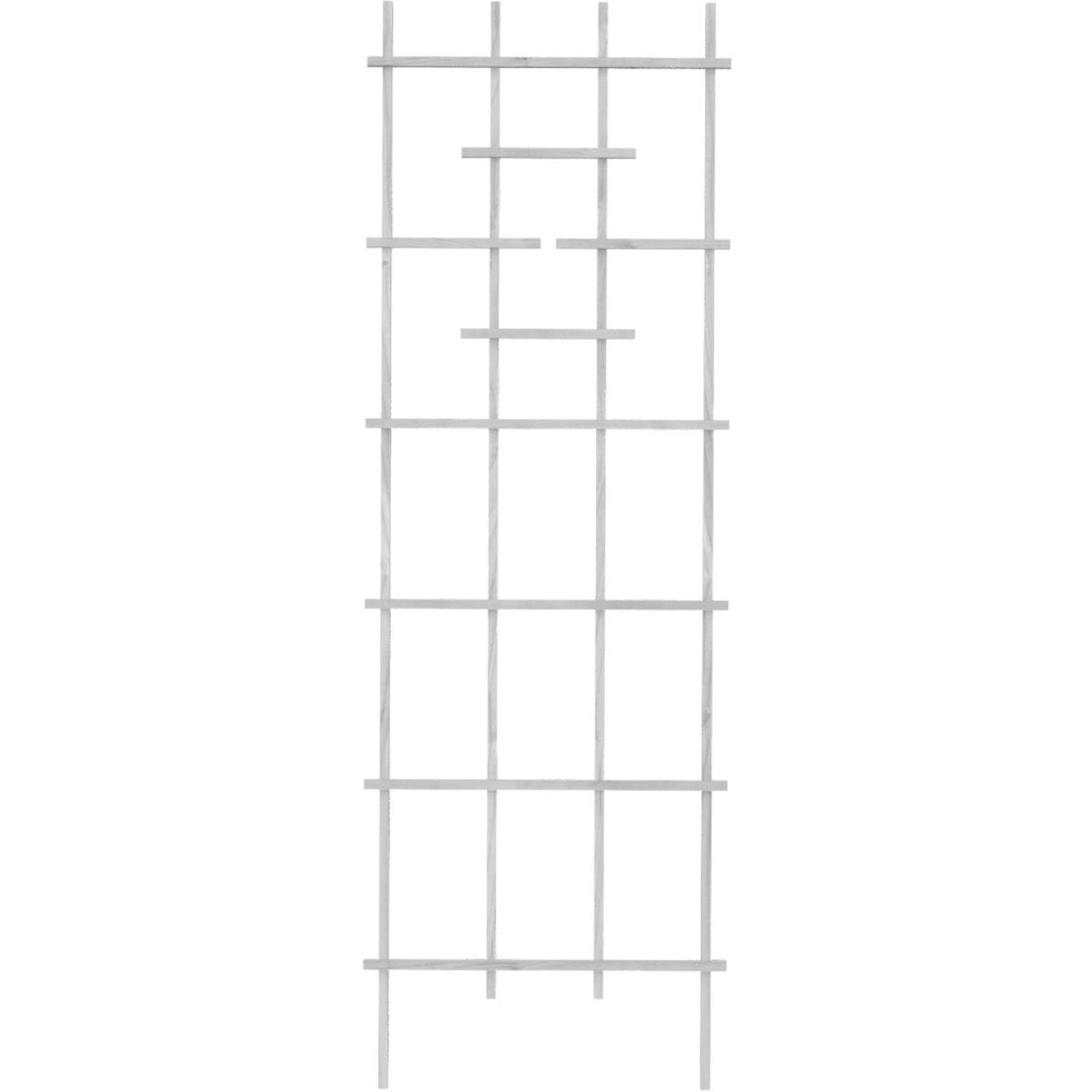 Panacea 72 In. White Wood Ladder Trellis Image 1