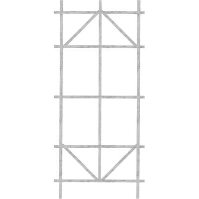 Panacea 48 In. White Wood Ladder Trellis