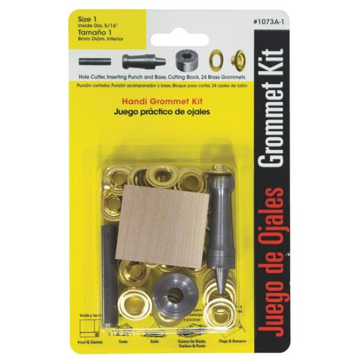 Lord & Hodge 5/16 In. Brass Grommet Kit