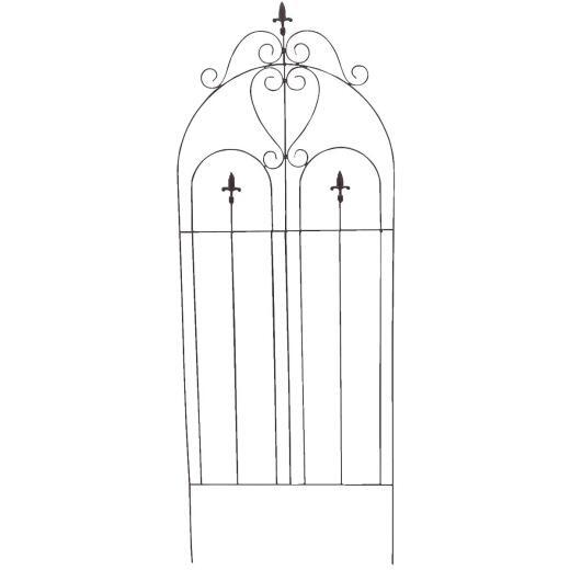 Best Garden Metal Cathedral Black Trellis