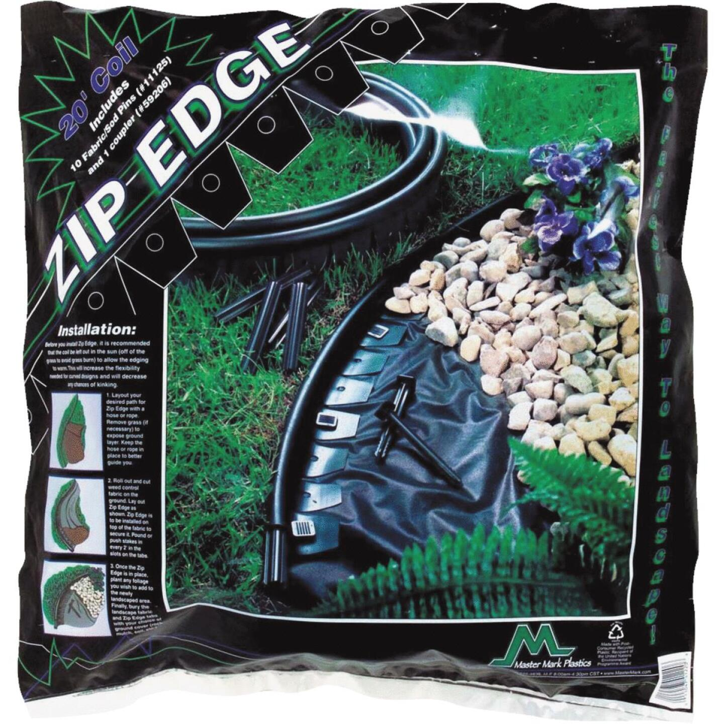 Master Mark Zip Edge 1 In. H. x 20 Ft. L. Black Recycled Plastic Lawn Edging Image 1