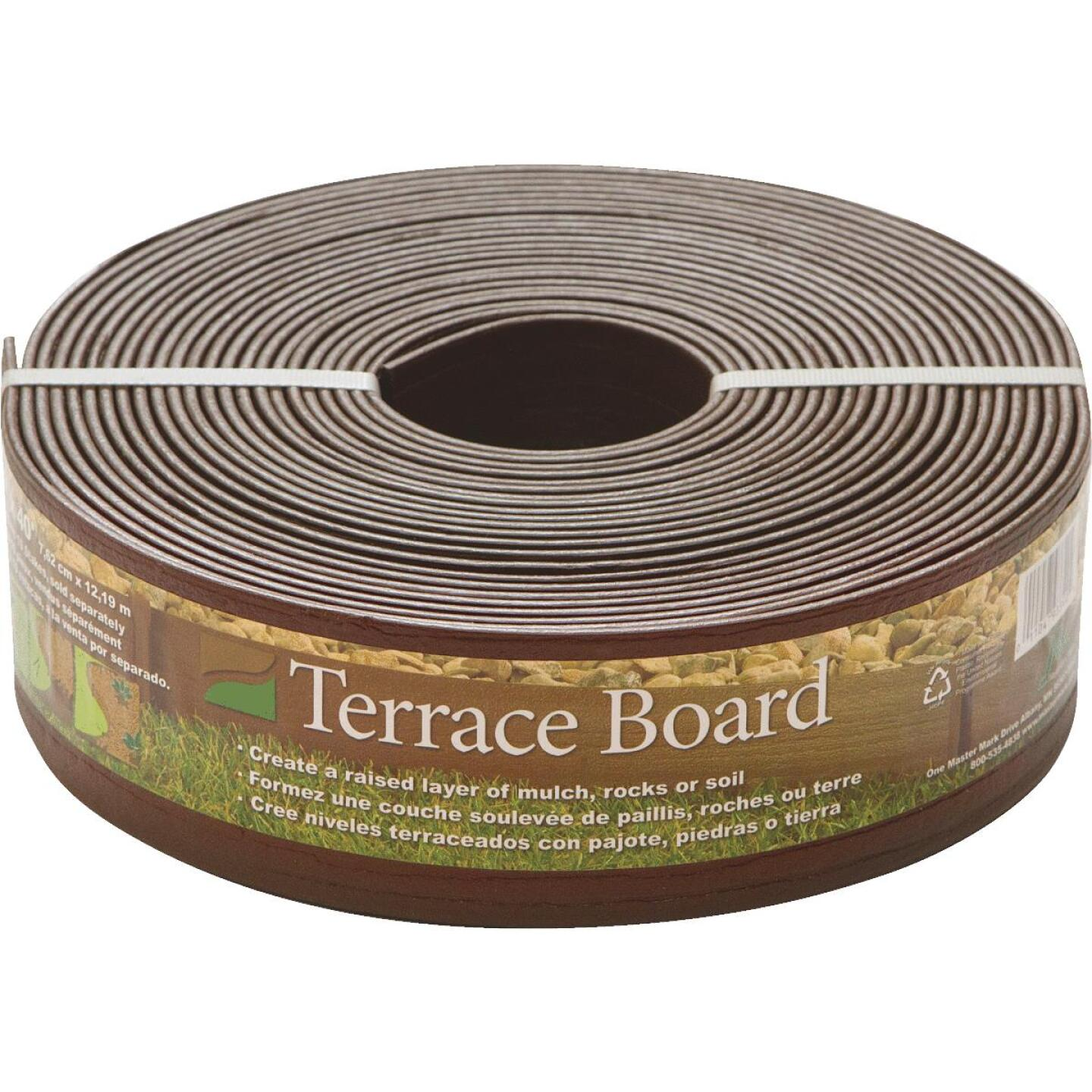 Master Mark 3 In. H. x 40 Ft. L. Brown Terrace Board Lawn Edging Image 1