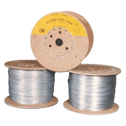 Oklahoma Steel & Wire 1/4-Mile x 14 Ga. Steel Electric Fence Wire