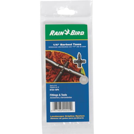 Rain Bird 1/4 In. Barb x 1/4 In. Barb Tee (10-Pack)