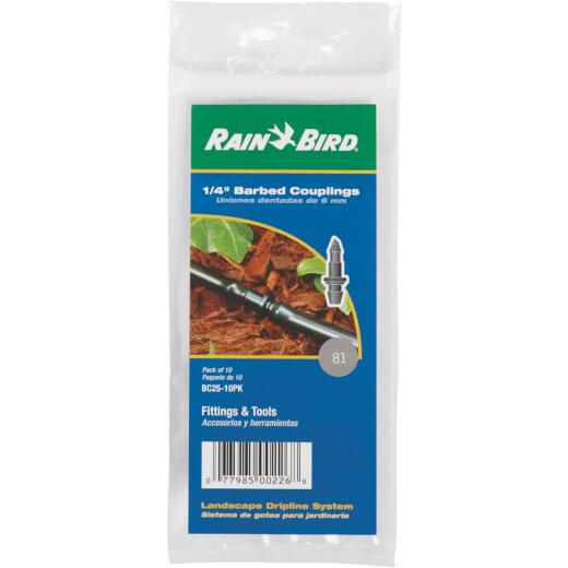 Rain Bird 1/4 In. Tubing Barbed Coupling (10-Pack)