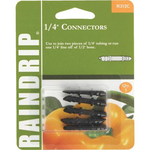 Raindrip 1/4 In. Tubing Barbed Connector Coupling (5-Pack)