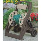 Suncast Hosemobile 225 Ft. x 5/8 In. Taupe & Bronze Resin Hose Reel with Storage Bin Image 1