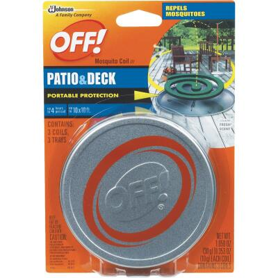 OFF! 4 Hr. Patio & Deck Mosquito Repellent Coil (3-Pack)