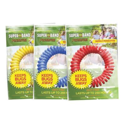 Super Band 250 Hr. Assorted Color Insect Repelling Wristband