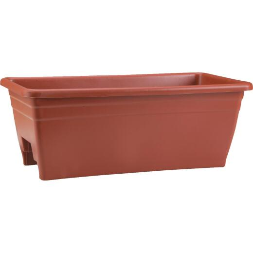Myers 8 In. H. x 24 In. L. Poly Terra Cotta Deck Rail Planter