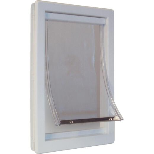 Ideal Pet 15 In. x 20 In. Super Large Plastic White Pet Door