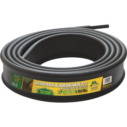 Master Mark Master Gardener Pro Contractor 5 In. H. x 20 Ft. L. Black Recycled Plastic Lawn Edging