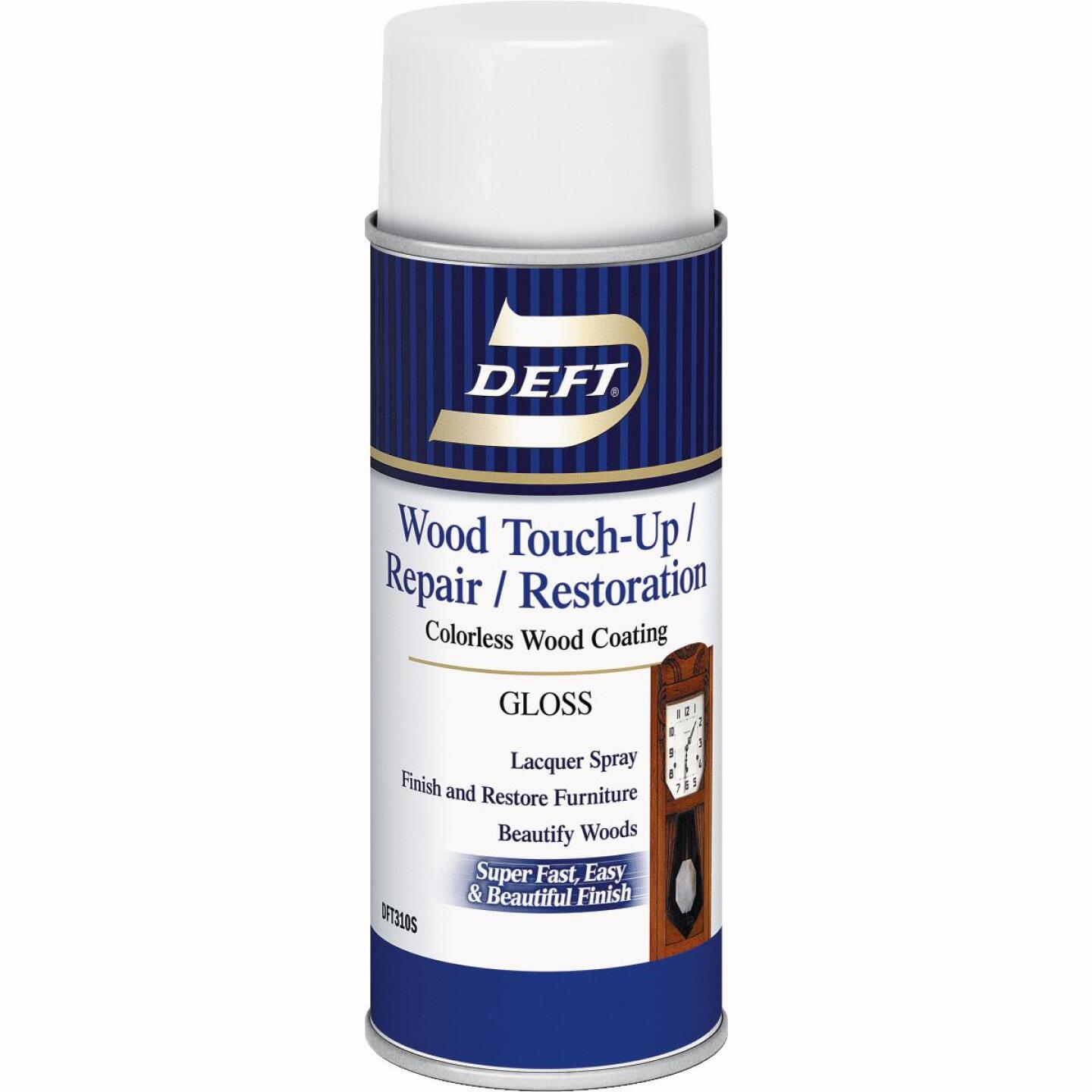 Deft VOC Compliant 12.25 Oz. Gloss Clear Wood Finish Interior Spray Lacquer Image 1