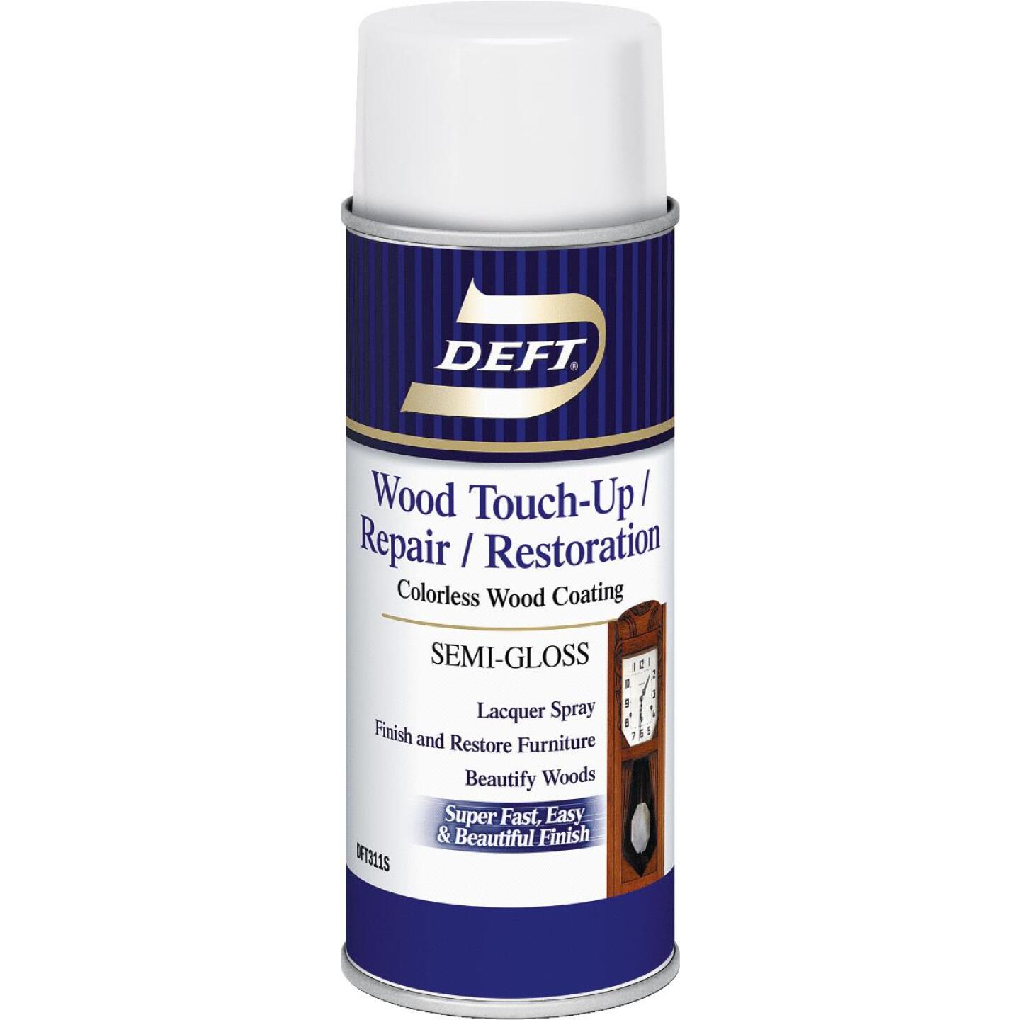 Deft VOC Compliant 12.25 Oz. Semi-Gloss Clear Wood Finish Interior Spray Lacquer Image 1