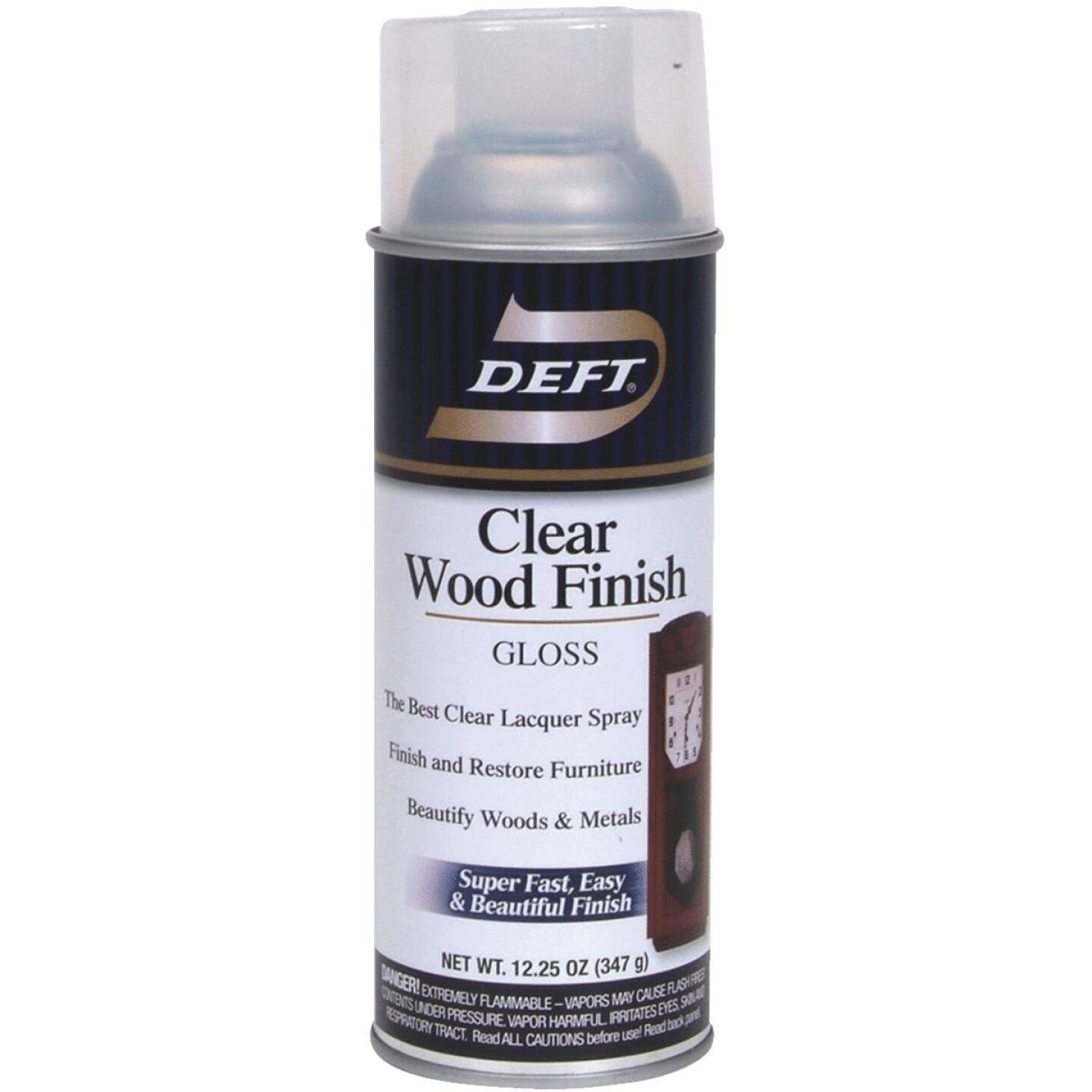 Deft 12.25 Oz. Gloss Clear Wood Finish Interior Spray Lacquer Image 1