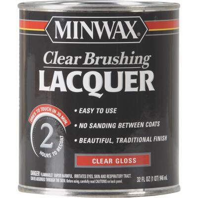 Minwax Gloss Clear Brushing Lacquer, 1 Qt.