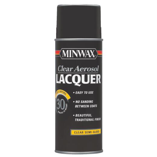 Minwax 11.5 Oz. Clear Semi-Gloss Spray Lacquer