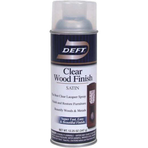 Deft 12.25 Oz. Satin Clear Wood Finish Interior Spray Lacquer